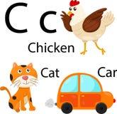 Illustratore dell'alfabeto di C Illustrazione di Stock