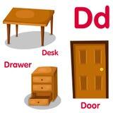 Illustratore dell'alfabeto di D Illustrazione di Stock