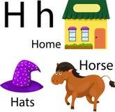 Illustratore dell'alfabeto di H Illustrazione di Stock