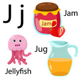 Illustratore dell'alfabeto di J Illustrazione di Stock