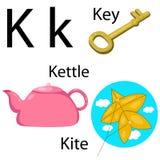 Illustratore dell'alfabeto di K Royalty Illustrazione gratis