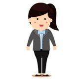 Illustratore dell'uomo d'affari delle donne illustrazione vettoriale