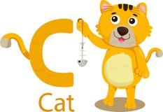 Illustratore della C con il gatto Royalty Illustrazione gratis