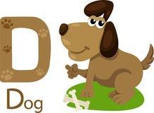 Illustratore della D con il cane Illustrazione Vettoriale