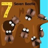 Illustratore dello scarabeo di numero sette Royalty Illustrazione gratis