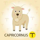 Illustratore di zodiaco con i capricorni Royalty Illustrazione gratis