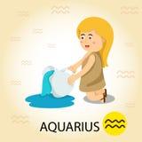 Illustratore di zodiaco con l'acquario Illustrazione di Stock