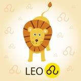 Illustratore di zodiaco con Leo Illustrazione di Stock
