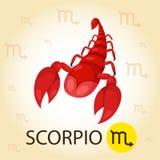 Illustratore di zodiaco con lo scorpione Royalty Illustrazione gratis