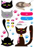 Illustratration cats Royalty Free Stock Image