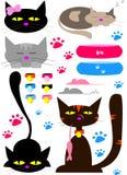 Illustratration cats Royalty Free Stock Image