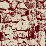 Illustratuin antiguo del vector del fondo de la pared de piedra stock de ilustración