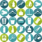 Illustratuon del vector de la limpieza Fondo del icono Fotografía de archivo libre de regalías