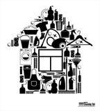 Illustratuon di vettore di pulizia Fotografie Stock