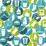 Illustratuon di vettore di pulizia Fondo dell'icona Fotografie Stock