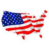 Illustrazione 01 della bandiera americana Fotografie Stock Libere da Diritti