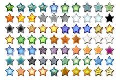Illustrazione 06 cinque stelle Fotografia Stock Libera da Diritti