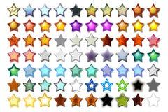 Illustrazione 07 cinque stelle Immagine Stock Libera da Diritti