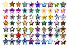 Illustrazione 09 cinque stelle Immagine Stock