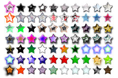 Illustrazione 10 cinque stelle Fotografia Stock Libera da Diritti