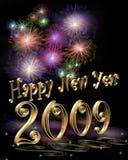 Illustrazione 2009 di nuovo anno 3D Fotografia Stock Libera da Diritti