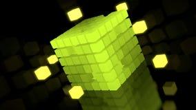 illustrazione 3d del cubo glowy Fotografie Stock Libere da Diritti