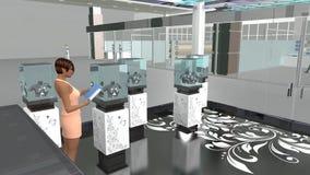 illustrazione 3D del salone dei gioielli Fotografia Stock Libera da Diritti