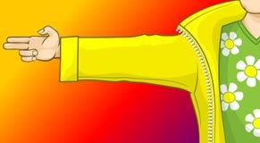 Illustrazione acida del raver del campo della camomilla royalty illustrazione gratis