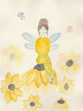 Illustrazione acquerella di un fatato Fotografie Stock