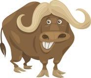Illustrazione africana del fumetto del bufalo Fotografia Stock