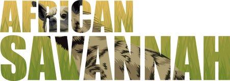 Illustrazione africana dell'iena a strisce di vettore illustrazione di stock