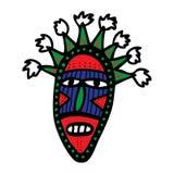 Maschera tribale del cartone Immagini Stock Libere da Diritti