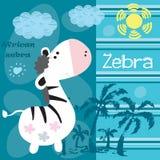 Illustrazione africana di vettore della zebra Fotografia Stock Libera da Diritti