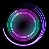 Illustrazione al neon Fotografie Stock