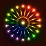Illustrazione al neon Immagine Stock Libera da Diritti