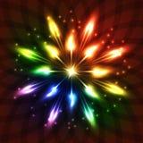 Illustrazione al neon Fotografie Stock Libere da Diritti