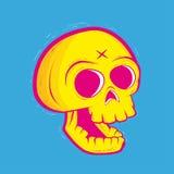 Illustrazione al neon del cranio Fotografie Stock