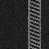 Illustrazione al tratto del Crosswalk Immagine Stock