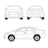 Illustrazione al tratto dell'automobile della città illustrazione di stock