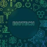 Illustrazione al tratto variopinto di Biotech di vettore su fondo scuro illustrazione di stock