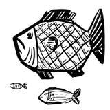 Illustrazione alla moda di vettore del pesce di lerciume Fotografia Stock Libera da Diritti