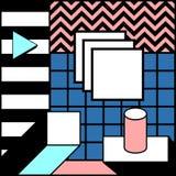 Illustrazione alla moda geometrica variopinta Blocky del grafico di vettore del fondo royalty illustrazione gratis