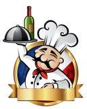 Illustrazione allegra del cuoco unico Immagini Stock Libere da Diritti