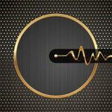 Illustrazione alta tecnologia astratta con il blocco per grafici dorato Fotografie Stock