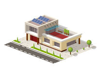 Illustrazione alta tecnologia isometrica di vettore della casa Immagini Stock Libere da Diritti