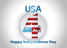 Illustrazione americana alla moda di festa dell'indipendenza Fotografia Stock Libera da Diritti