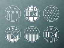 Illustrazione americana di festa dell'indipendenza illustrazione di stock