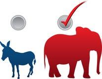 Illustrazione americana di vettore di elezione fotografie stock libere da diritti