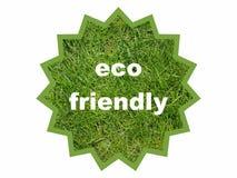 Illustrazione amichevole del bollo del pacco di Eco isolata su bianco, autoadesivo dell'icona di simbolo del segno fotografia stock libera da diritti