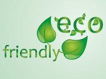 Illustrazione amichevole del testo di Eco Fotografia Stock